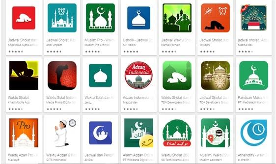 Aplikasi Jadwal Sholat dan Adzan Terbaik
