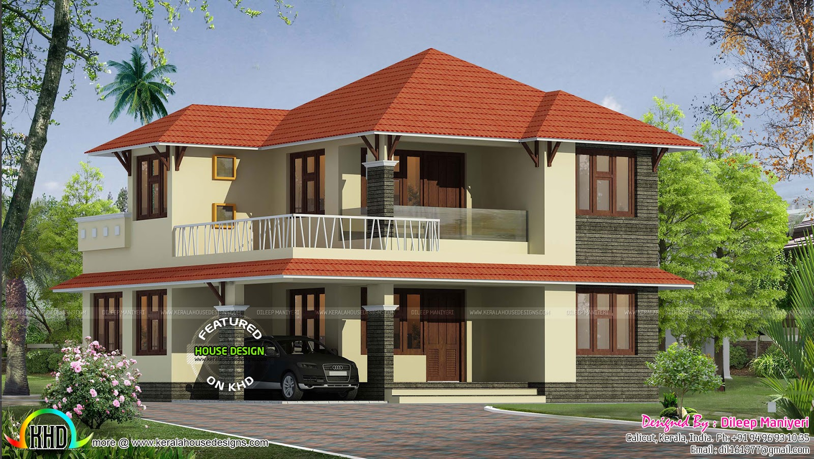 1870 sq ft typical kerala home kerala home design and for Typical house design