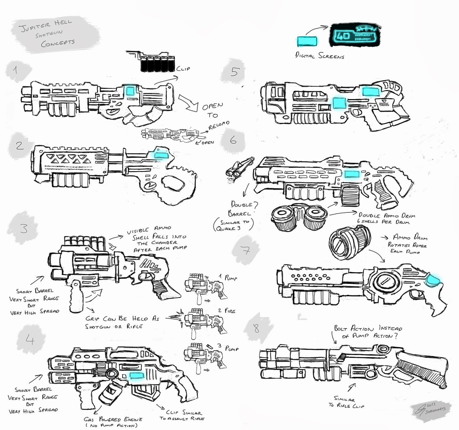 Jupiter Hell - Shotgun concepts