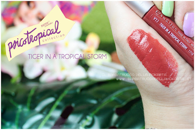 VERNISSAGE GLOSS tiger in a tropical storm psicotropical collection neve cosmetic