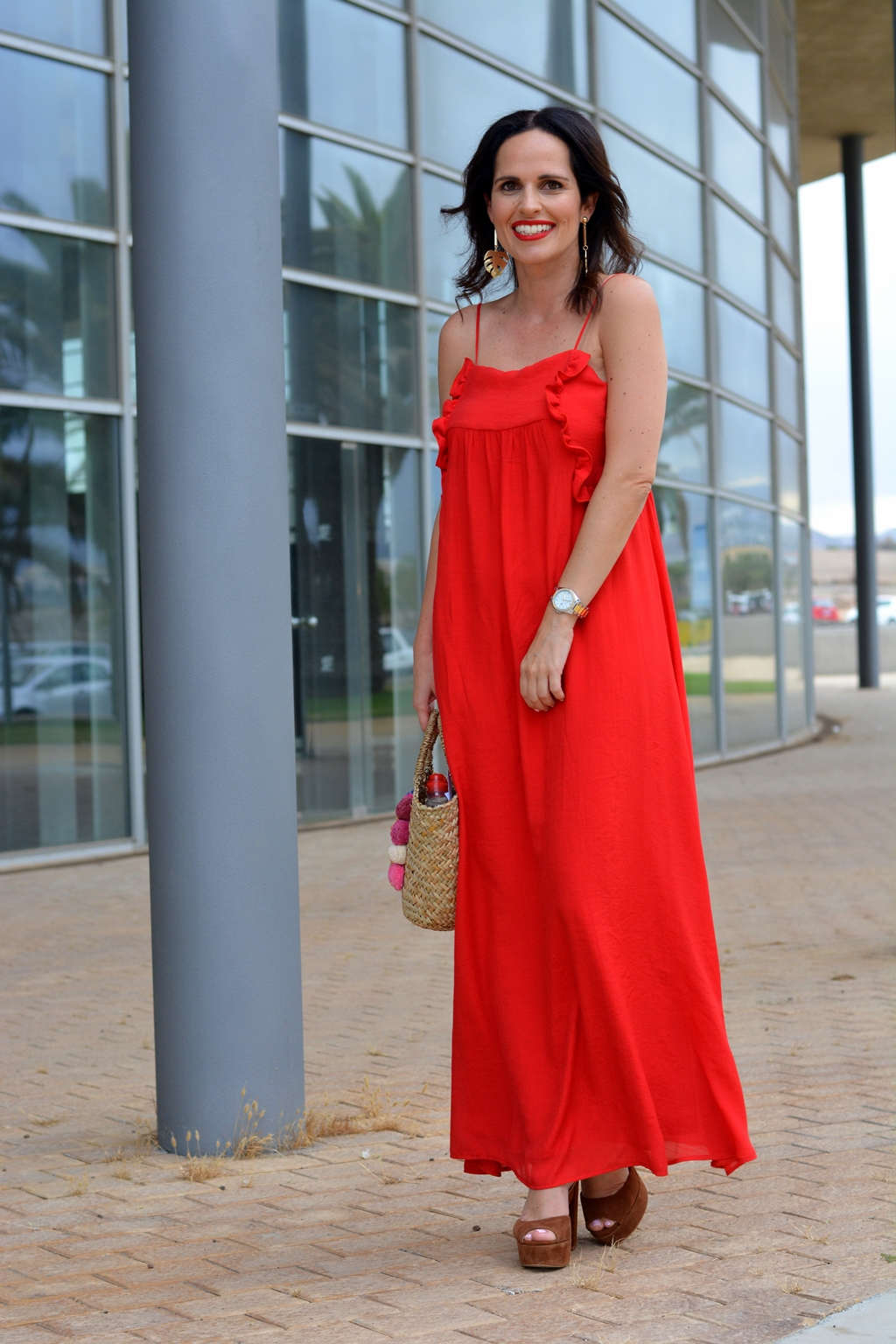 zara-red-dress-outfit-streetstyle