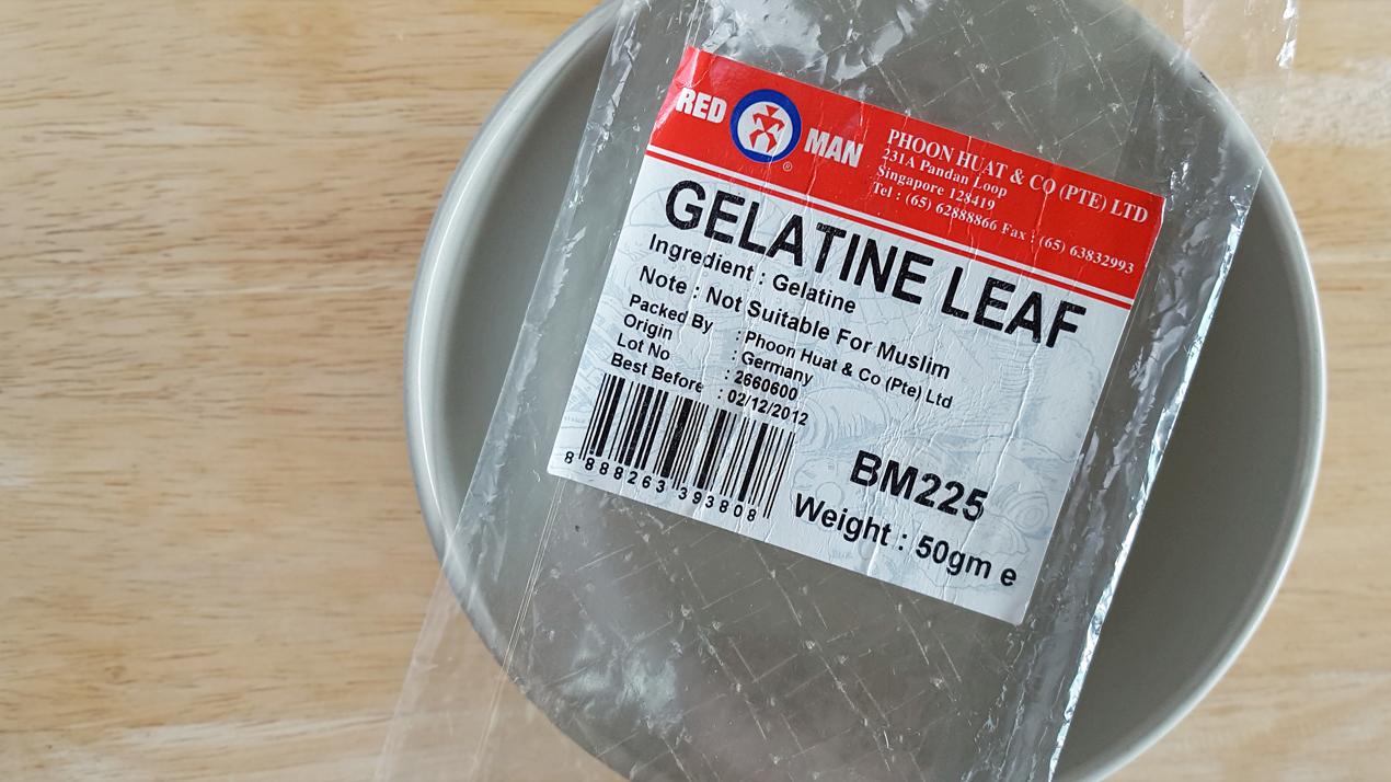 gelatine leaves