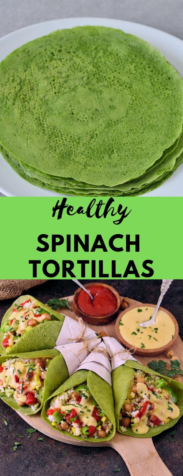 Healthy spinach tortillas #healthy #easy #vegan #glutenfree