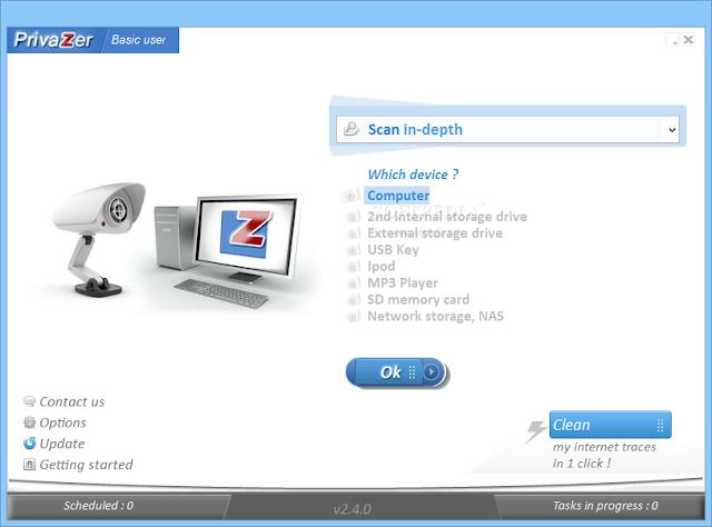 تحميل برنامج تسريع وتنظيف الكمبيوتر مجانا PrivaZer 2.49.0
