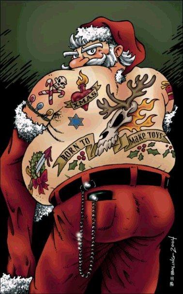 Forasteiro tattoo papai noel do mal ho ho ho for Tattoo punk porn