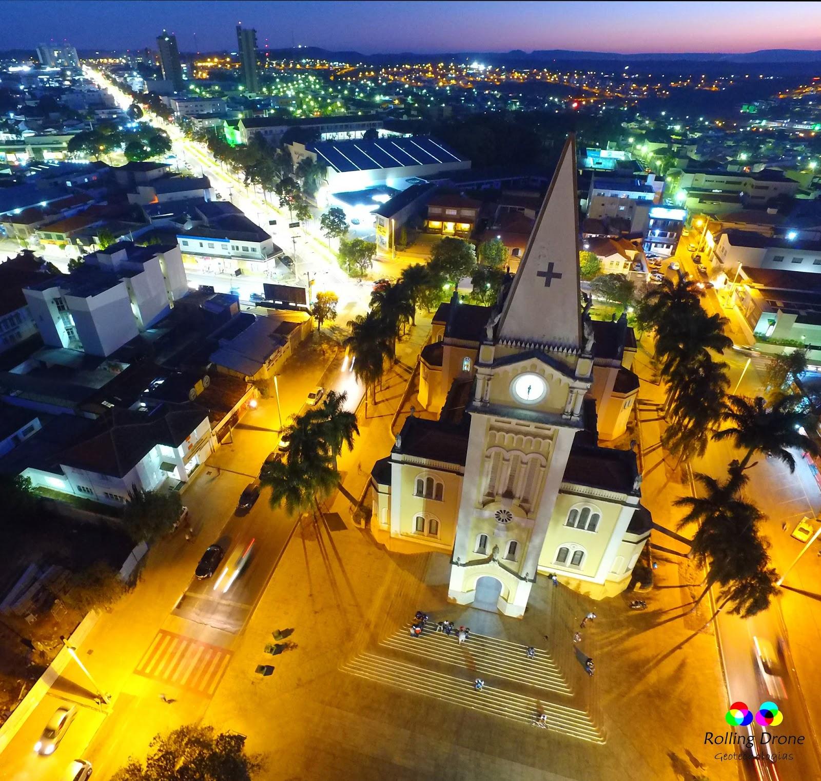 Vista aérea Matriz de São Domingos