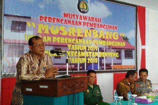 Ka.Bappelitbanda Buka Resmi Musrenbang, Kecamatan Benteng