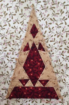 Dear Jane Quilt - Border Triangle Block LR2 Barb's Diamond