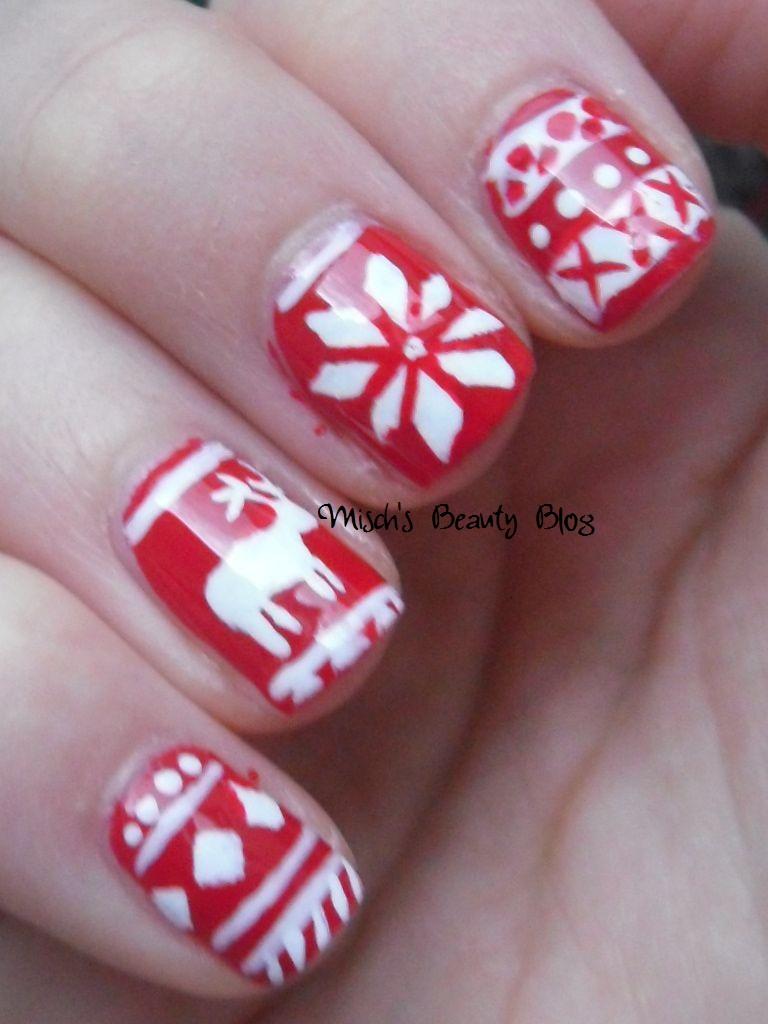 Misch S Beauty Blog Notd September 29th Fall Leaf Nail Art: Misch's Beauty Blog: NOTD December 4th: Fair Isle Sweater