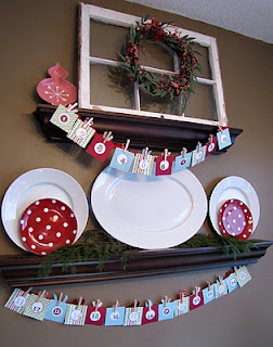 how to make a Christmas countdown garland