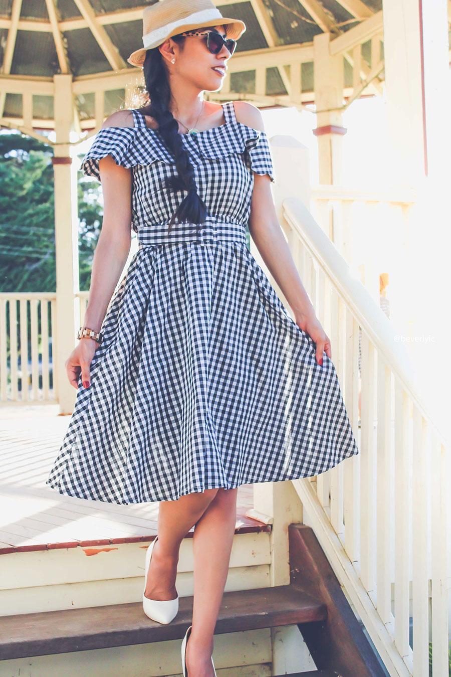 Vestido Shein Gingham