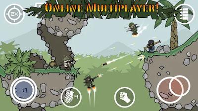 Download Game Doodle Army 2: Mini Militia Mod (Pro Pack Unlocked) Offline gilaandroid.com