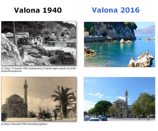 Immagini Valona 1940 e oggi