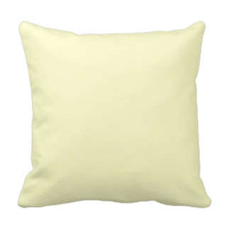 Cream throw pillow