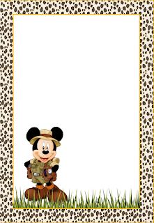 Para hacer invitaciones, tarjetas, marcos de fotos o etiquetas, para imprimir gratis de Mickey Mouse.