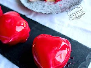 Dessert de saint Valentin : les coeurs Ispahan