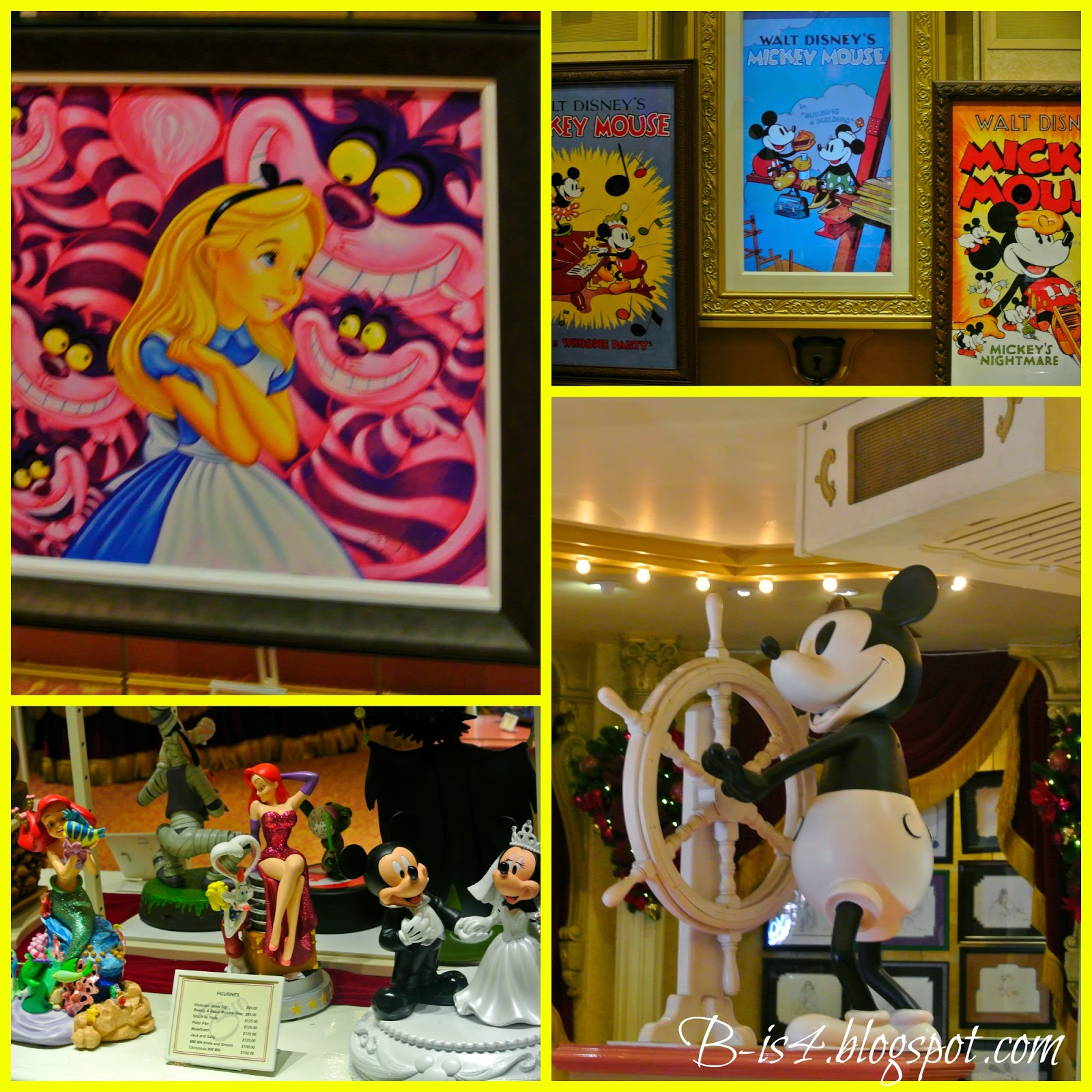 Disney store, family vacation, Alice in Wonderland