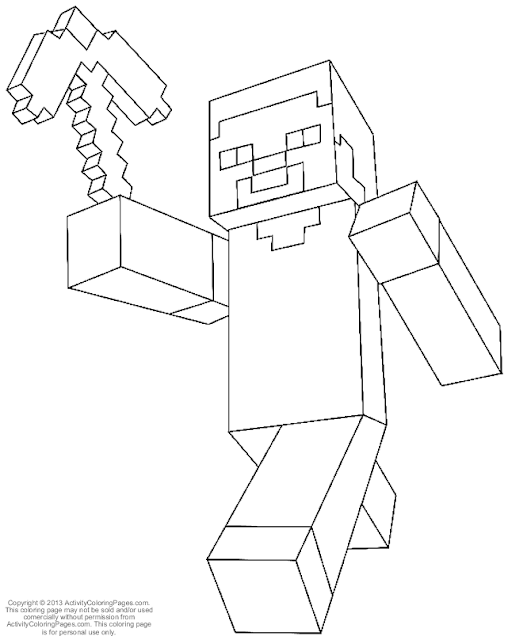 Minecraft Diamond Armor Steve Coloring Pages Diamo