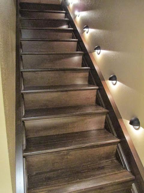 Lighting Basement Washroom Stairs: Stair Lighting : Smart Ideas , Step Lights Tips And