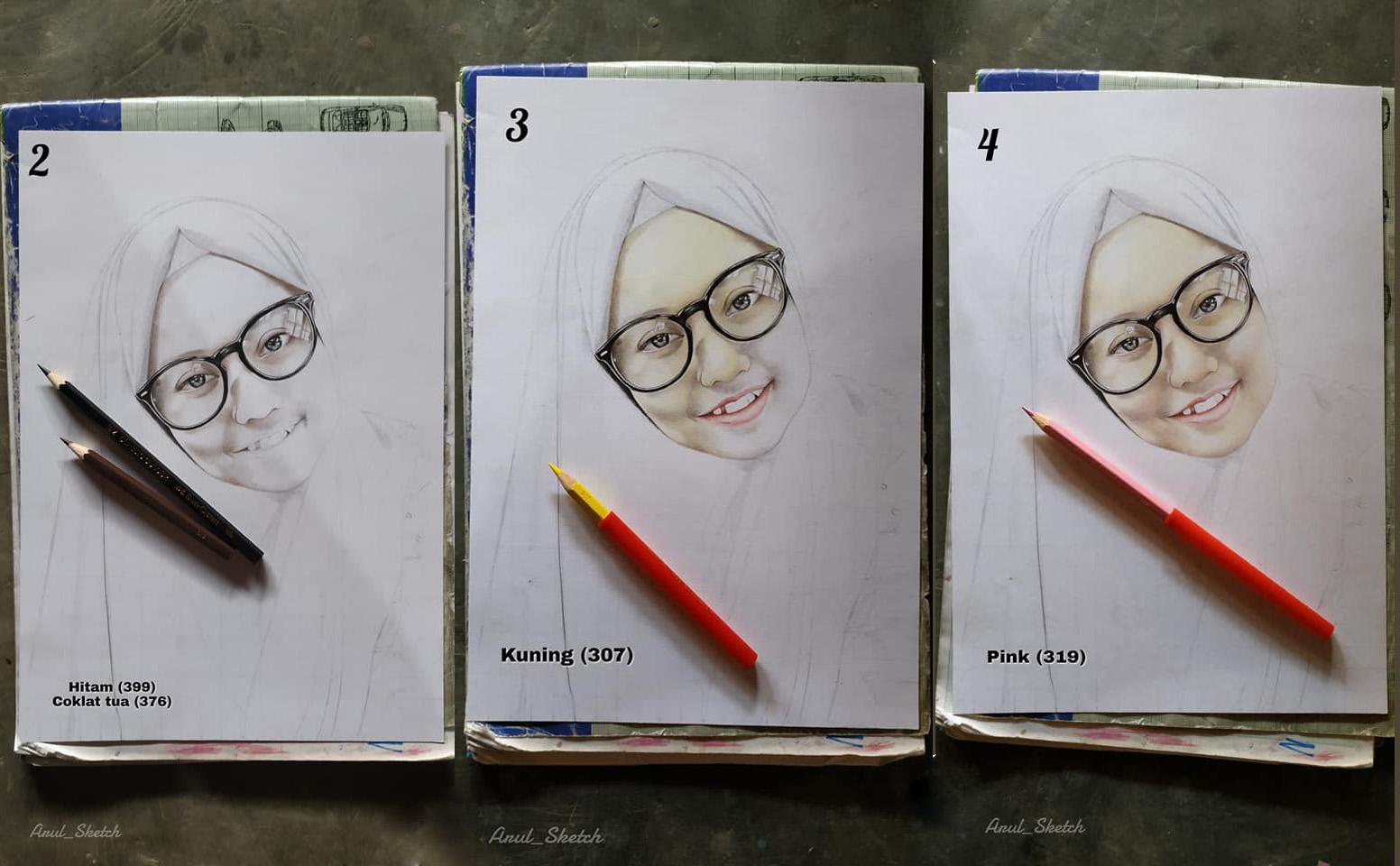 Melukis Menggunakan Pensil Warna Seri 1 Roni Art