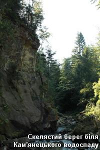 Скелі біля водоспаду