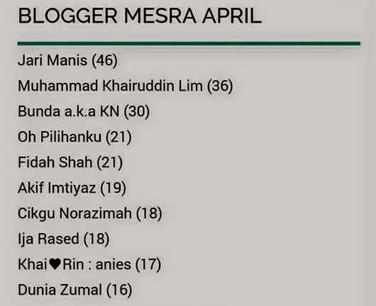 Blogger mesra April 2015