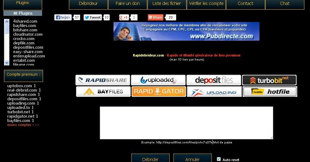 rapidgator premium account generator 2013 4.0v