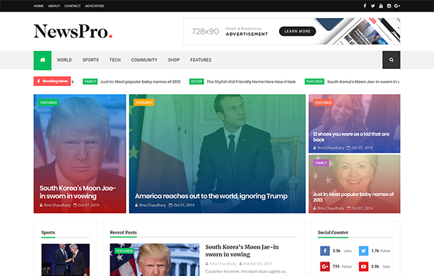 Newspaper Blogger Template which gives y'all the tools y'all take away to write together with edit articles  Free Download NewsPro Responsive Blogger Template