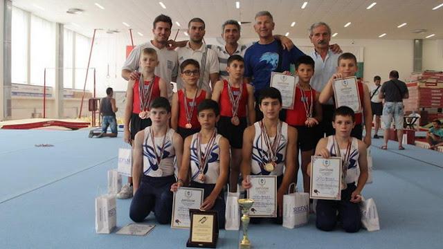 Μετάλλια και διακρίσεις για τα παιδιά του Ο.Ε.Γ.Α. σε διεθνές τουρνουά Ενόργανης Γυμναστικής