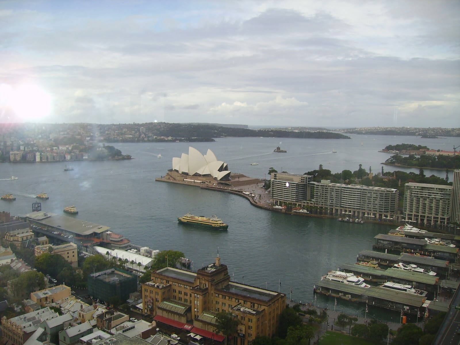 Murder At The Rocks is set mainly around the historic Rocks area of Sydney  Harbour, and Circular Quay as shown here.