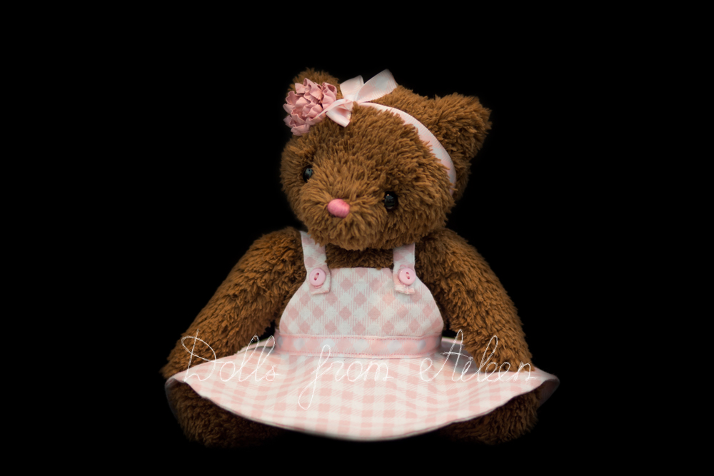 OOAK Artist Teddy Bear wearing party dress