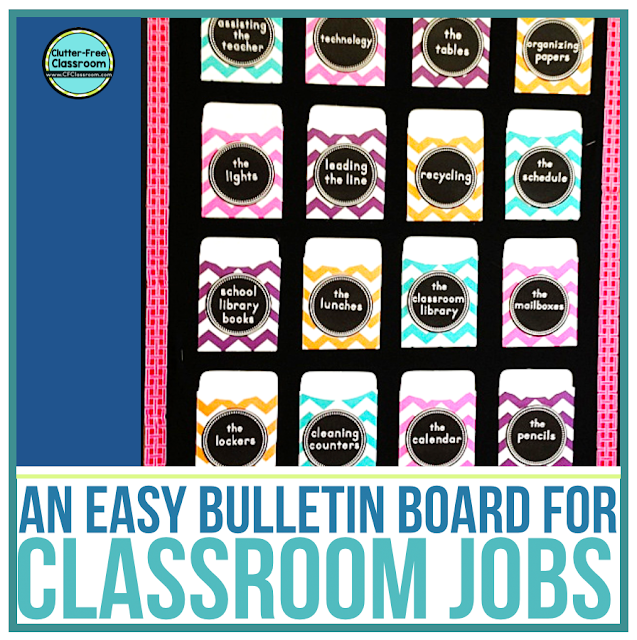 Printable Clroom Jobs Chart Display And Ideas Clutter Free