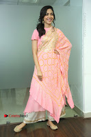 Actress Ritu Varma Pos in Beautiful Pink Anarkali Dress at at Keshava Movie Interview .COM 0158.JPG