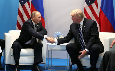 Russian President and President Donald Trump.