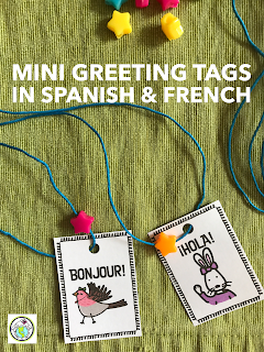 Make Mini Greeting Tags in Spanish and French