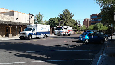 Maricopa Ambulance and Scottsdale Fire Department at Injury Accident