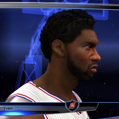 Joel Embiid Cyberface Realistic W/ Updated Hair [For 2K14 ...