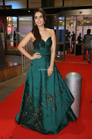 Raashi Khanna in Dark Green Sleeveless Strapless Deep neck Gown at 64th Jio Filmfare Awards South ~  Exclusive 083.JPG