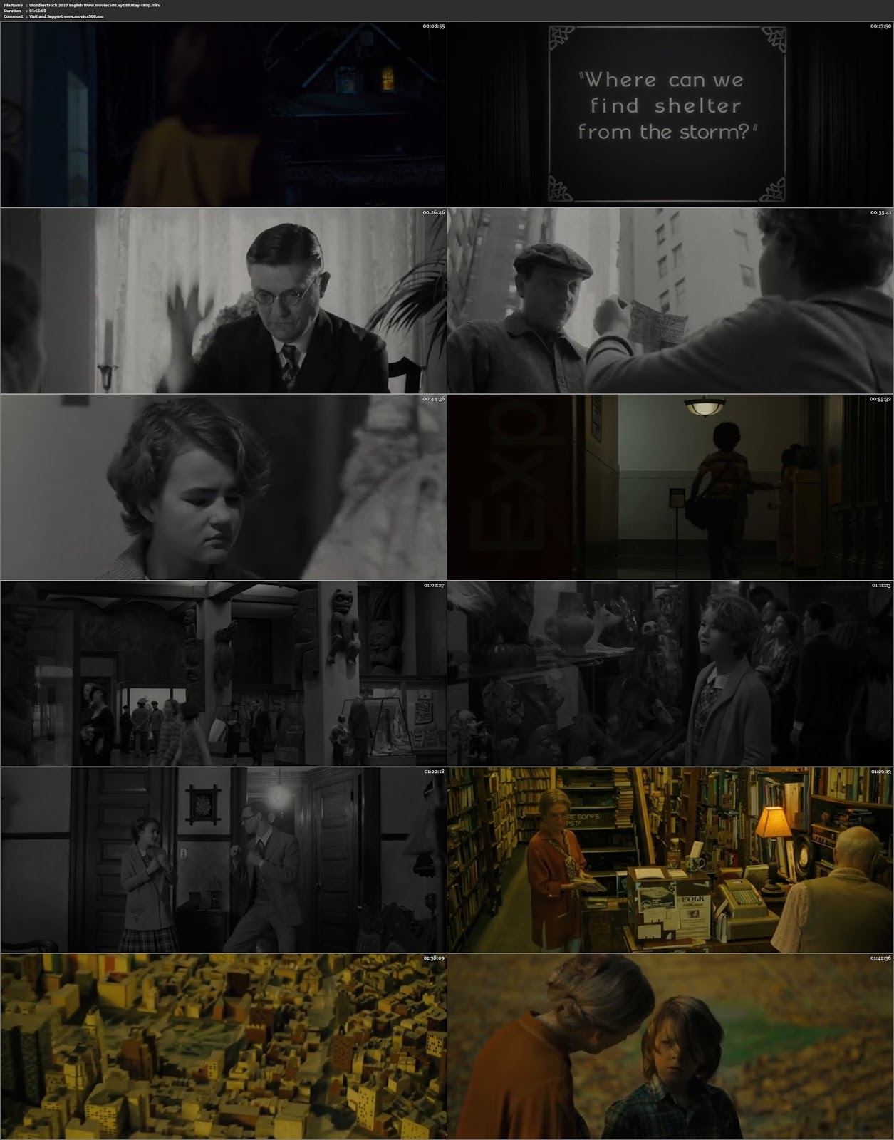 Wonderstruck 2017 Hollywood 300MB BluRay 480p ESubs at movies500.info