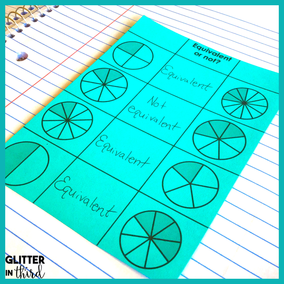 How to make teaching equivalent fractions a success - Glitter in Third [ 1080 x 1080 Pixel ]