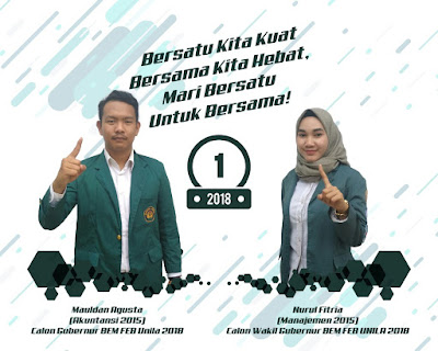 Mauldan-Fitria Ungguli Udin-Amin Pada Pemira BEM FEB Unila Periode 2017/2018