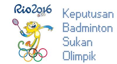 Keputusan Badminton Olimpik 2016 Atlet Malaysia