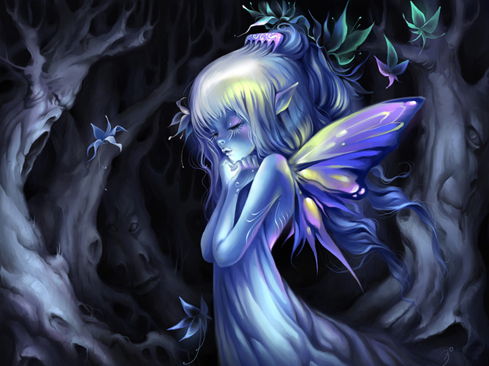 Inner thought the most beautiful pictures with fairies - Most beautiful dark wallpapers ...
