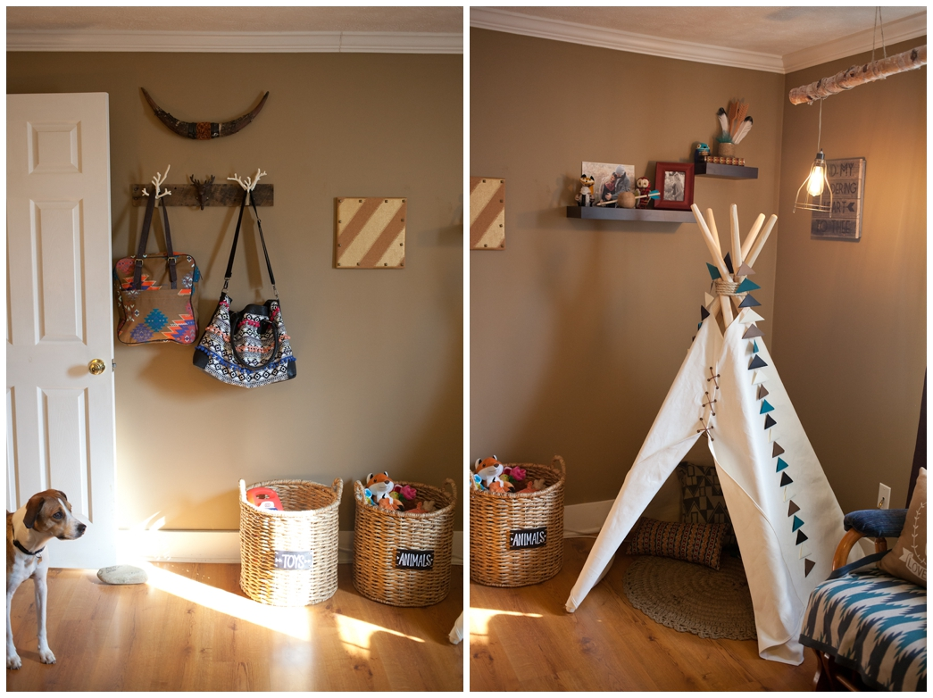 Tee Is From Etsy House In Habit The Aztec Garland Was Handmade By Leslie S Cousin Kelsie Wilkens As Decor For Their Baby Shower