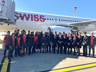 Photo: Arsenal Stars Fly Back to London