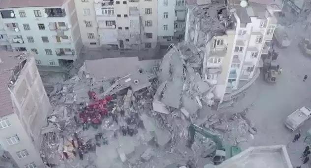 Βίντεο - Τουρκία: Δείτε από ψηλά τις καταστροφές που σημειώθηκαν μετά τον Εγκέλαδο
