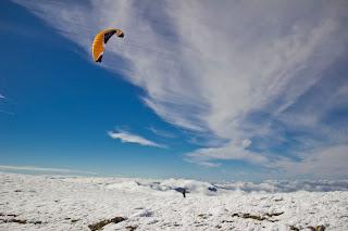 Esquí con Parapente en la Sierra de Madrid Peñalara