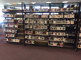 shelves of books on cd