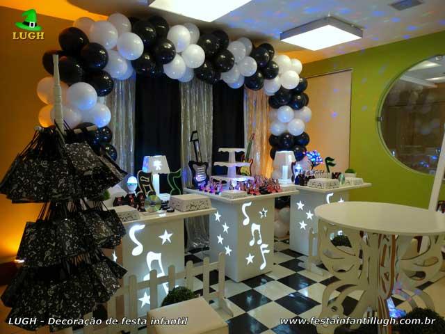 Mesa de aniversário Discoteca