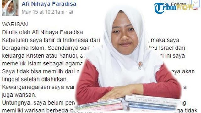 Ramai-ramai Dilaporkan, Akun FB Afi Dilumpuhkan usai Unggah Tulisan yang Menyinggung Sumbu Pendek